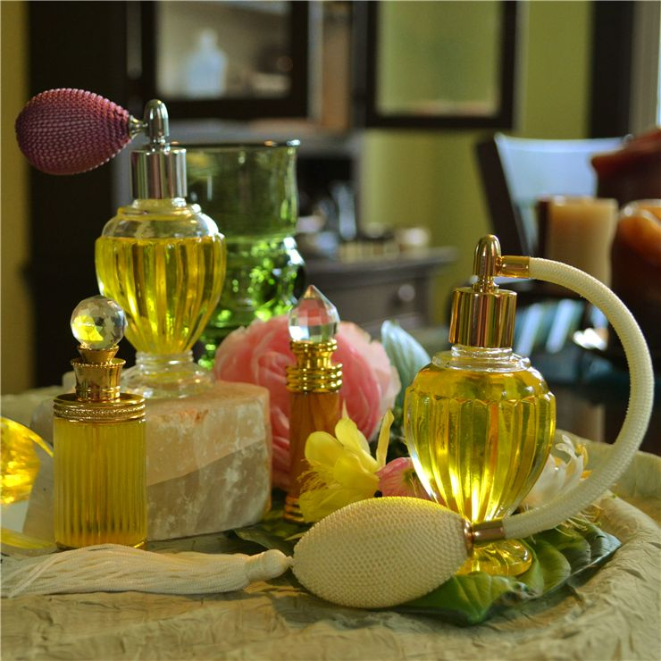 Picture Of Glass Perfume Bottles
