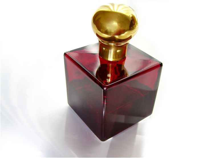 Picture Of Retro Red Perfume Bottle